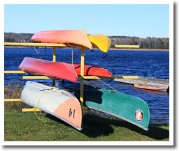 Canoes At Island Lake CVCA