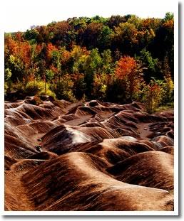 Cheltenham Badlands in Caledon, Ontario. Photo by Martin McCreath