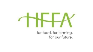 "HFFA's  new logo and tagline ""for food. for farming. for our future."""