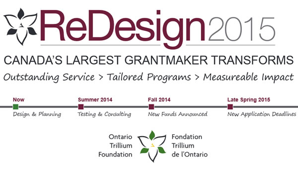 Ontario Trillium Foundation's ReDesign2015