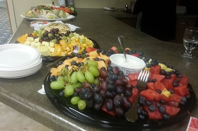Food Spread from Do The Math Town Hall Meeting